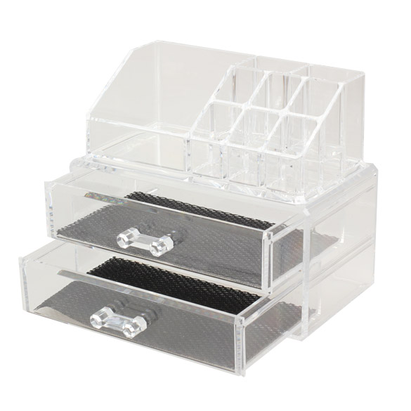 2017 Acrylic Transparent Cosmetic Organizer Drawer Makeup Case Storage Insert Holder Jewel Box 18.8 x 10 x 5.7cm