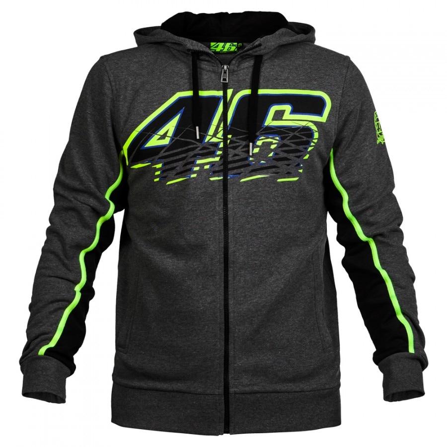 VOLERO <font><b>Valentino</b></font> <font><b>Rossi</b></font> VR46 Moto GP Hoodies Sweatshirts <font><b>Motorcycle</b></font> Casual Winter Sports Zipper Sweater