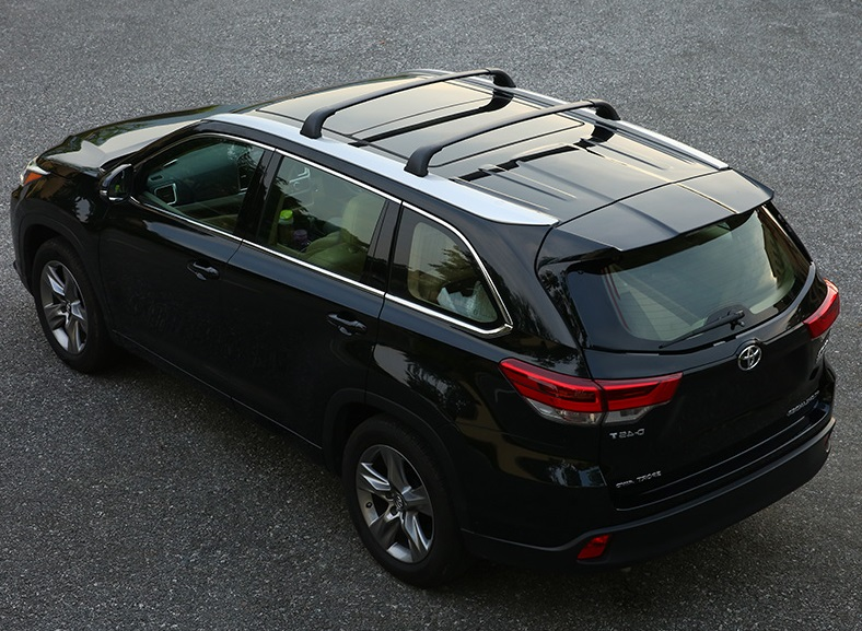 For 2015-18 Toyota Highlander Luggage Holder Carrier Roof Rack Rails Cross Bars