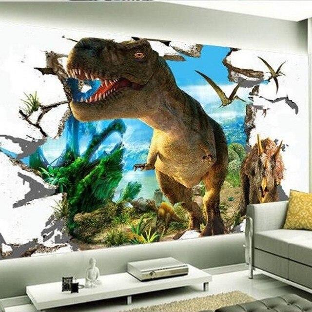 Buy beibehang 3d wallpaper custom mural for Dinosaur mural wallpaper