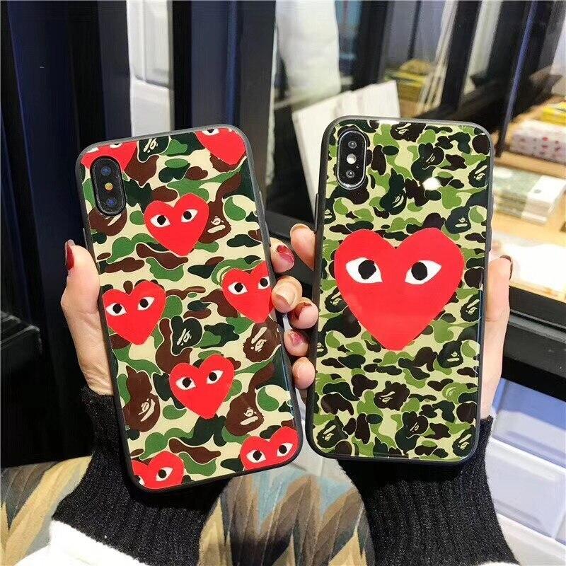 Горячая Япония Стиль Коке Дело Рей Кавакубо Изысканный Металл для iphone7 7 Plus 8 8 Plus X 10 6 6S 6 Plus 6S плюс известная марка
