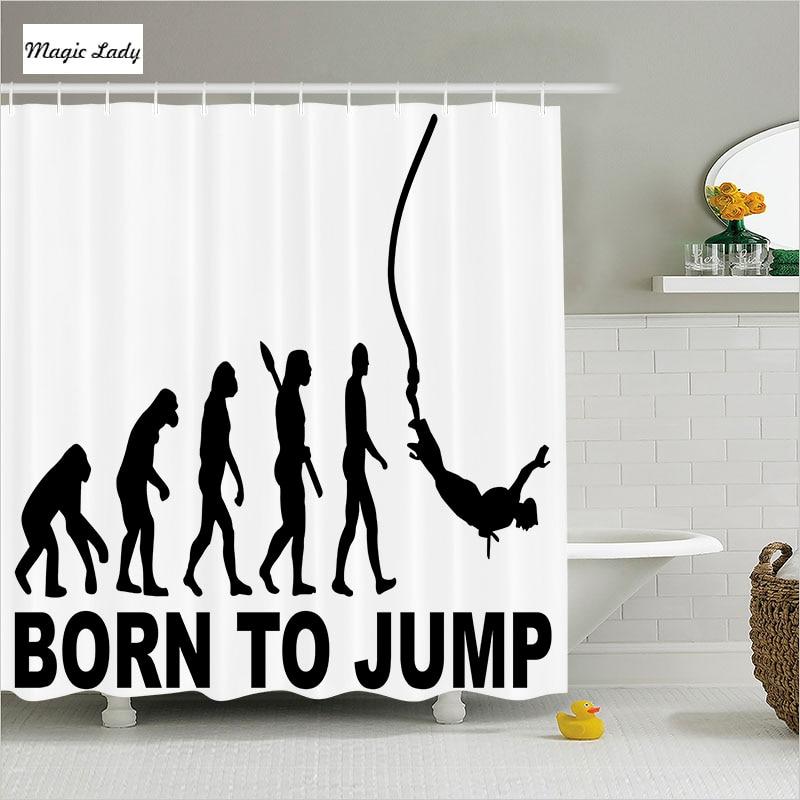 Shower curtains men bathroom accessories walking for Bathroom sets for men