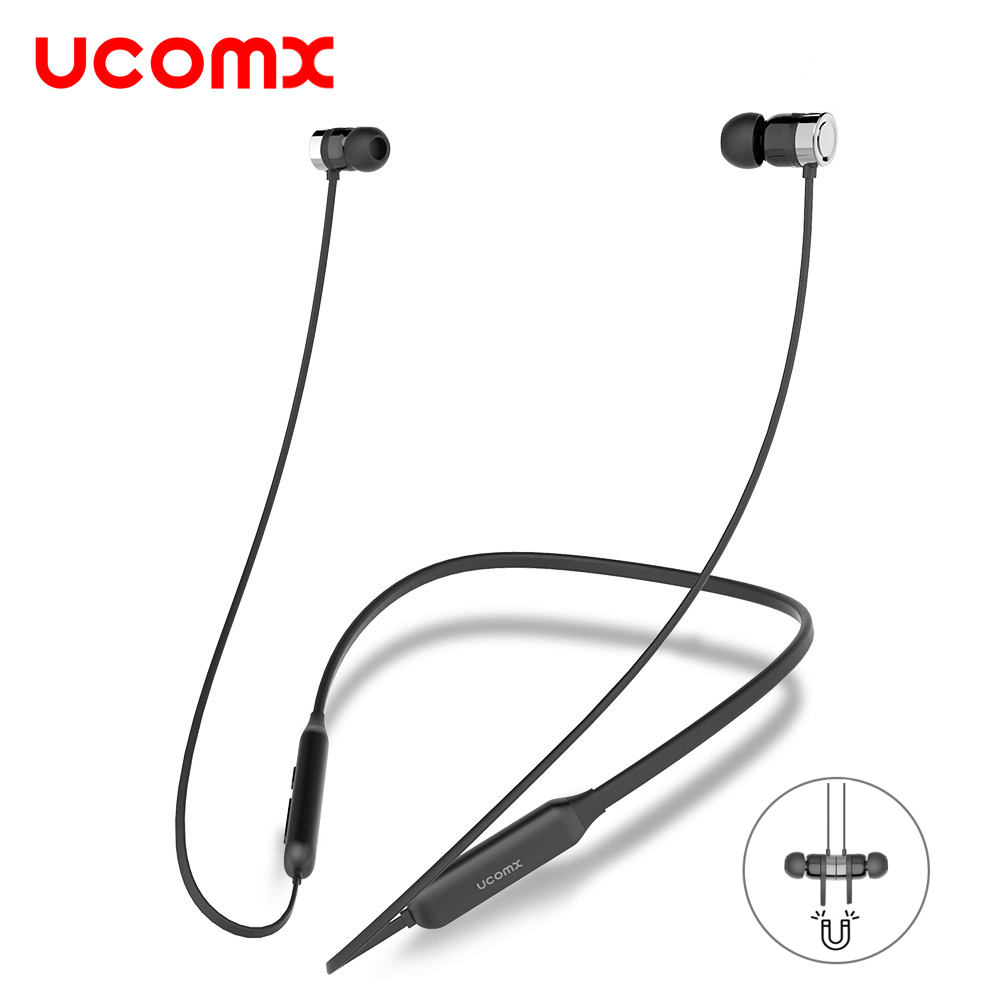 UCOMX Sport Bluetooth Headphone 4.1 Noise Canceling Wireless Earphones Neckband Stereo Headset Earbud for iPhone Samsung Android headset 4 1 wireless bluetooth headphone noise cancelling sport stereo running earphone fone de ouvido for xiaomi iphone huawei