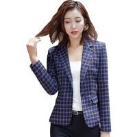 2018 new women High quality Jackets and Blazer with Pocket Office Lady formal Style Blazer Women work Wear Coat 5