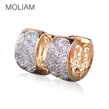 MOLIAM Fashion Hoop Earrings For Women High Quality Brincos Jewelry White Crystal Cubic Zirconia Earings Fashion 2016 MLE113