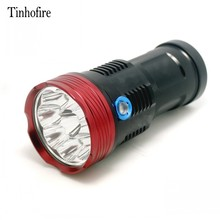 Tinhofire 9T6 15000 lumens LED flashlamp 9 x CREE XM-L T6 LED Flashlight Torch For Camping Hiking Hunting Work Lamp
