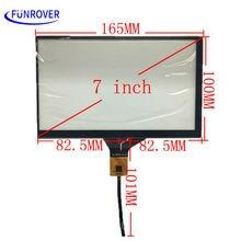 Envío gratis 7 pulgadas 165mm * 100mm pantalla táctil capacitiva de la pantalla LCD de pantalla táctil de navegación de DVD del coche para 1024×600 Android dvd gps