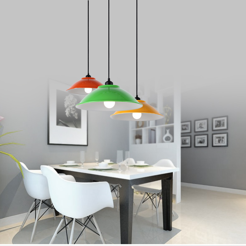 E27 Simple Color Droplight Dining Room Overhead Light Personalized Office  Lamp Edison Bulb Double Side Paint Lamp In Pendant Lights From Lights U0026  Lighting ...