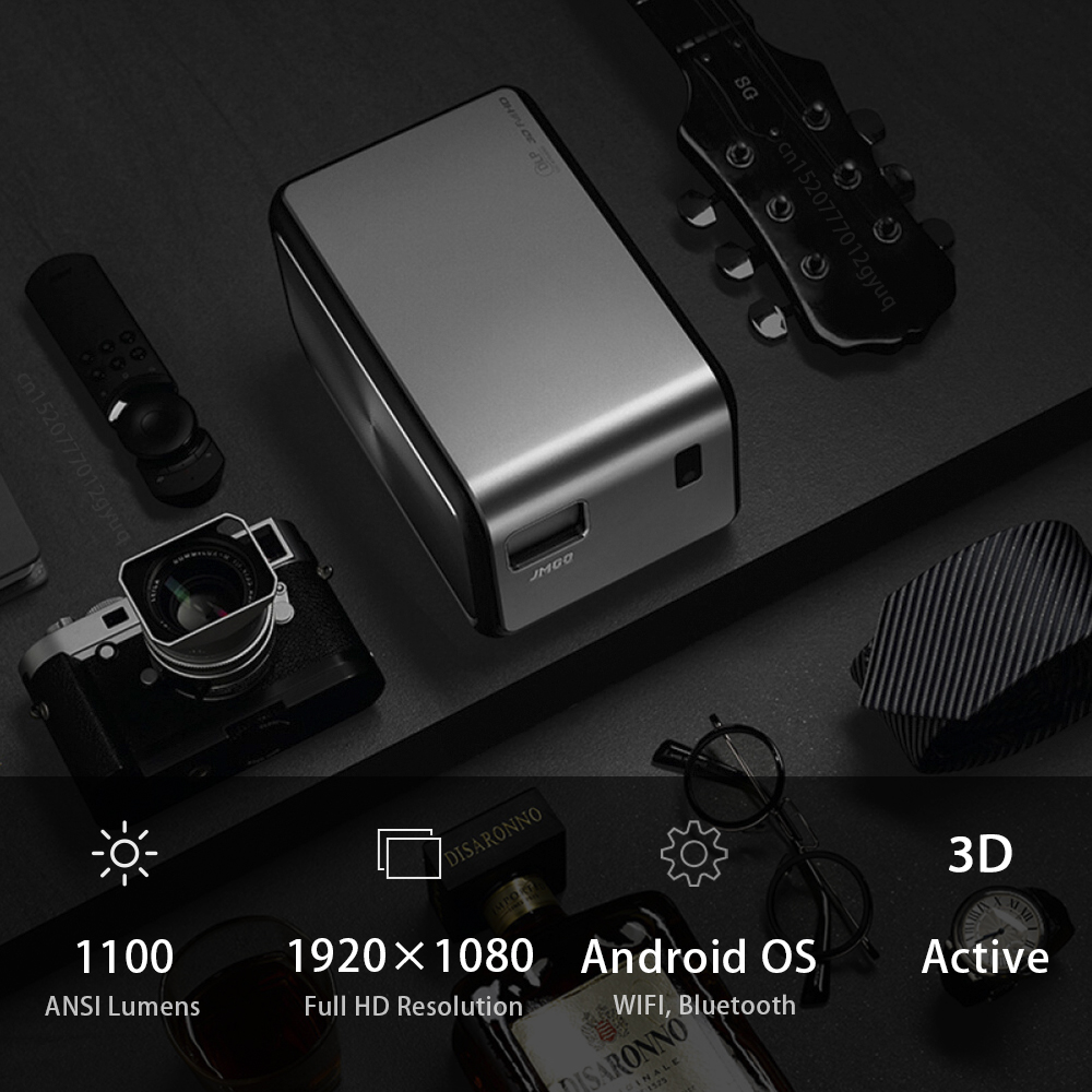jmgo j6s, full hd android projector, 1920x1080 resolution, 1100 ansi