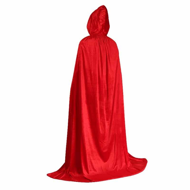 Halloween Cloak Cosplay Death Costume Witch Wizard Cloak 2018 New Children Adult Solid Color Gold Velvet Cloak Suit 0 7 1 7M