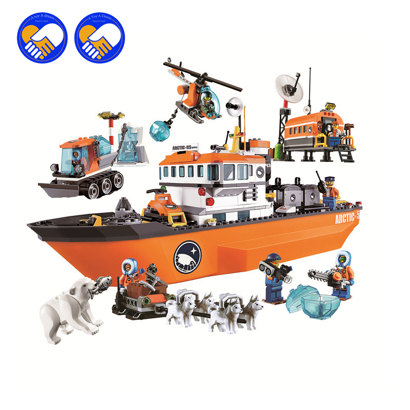 (A Toy A Dream)Original  10443 Compatible City figures Brick Arctic Icebreaker 60062 Building Blocks  Toys For Children 2017 hot sale girls city dream house building brick blocks sets gift toys for children compatible with lepine friends