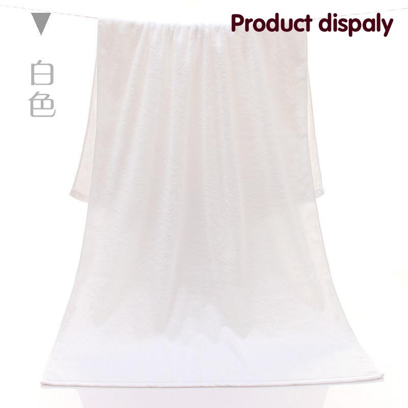 100% Cotton Platinum Cotton Hotel Bath Towel 400g Thickening Five Star High Quality White towel 140cm*75cm Free shipping
