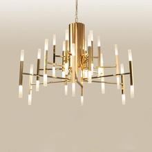 modern chandelier lighting luxury art deco metal drop light creative villa living room bedroom lighting