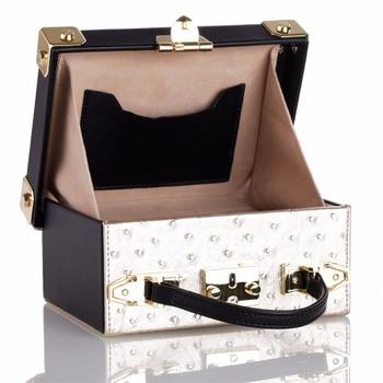 Women Jewelry Storage Satchel Case White