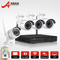 ANRAN P2P 4CH H.264 Wireless NVR CCTV System 720P HD IR Outdoor WIFI IP Camera Security Camera Video Recorder Surveillance Kit