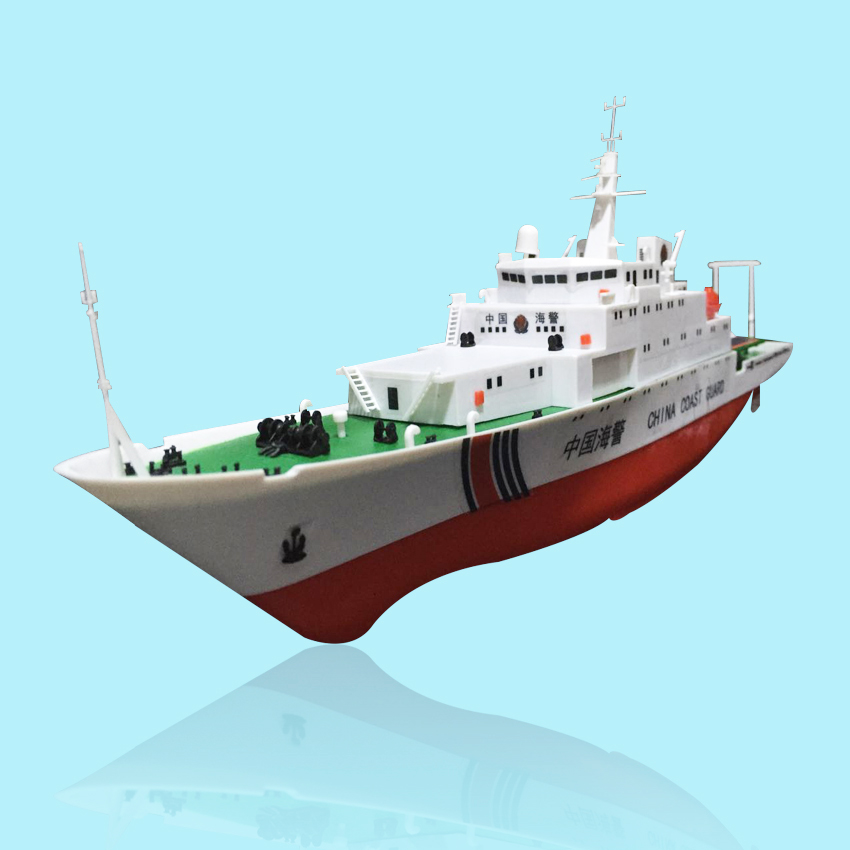 Freies verschiffen China Küstenwache Schiff 2,4G Elektrische Fernbedienung Schiffsmodell Navy Schlacht Schiff Dual Propeller DIY boot spielzeug geschenk - 2