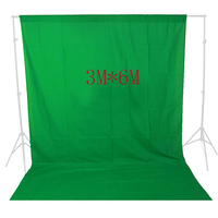 DHL Free Shipping 3 6M Photo Lighting Studio 100 Cotton Chromakey Chromakey Green Screen Muslin Background