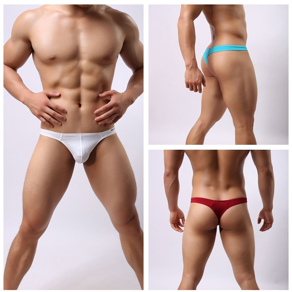 Brave Person Men Fashion Sexy Briefs Bikini gay low rise Smooth Spandex Underwear Beachw ...