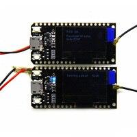 2pcs TTGO 868MHz 915MHz SX1276 ESP32 LoRa 0 96 Inch Blue OLED Display Bluetooth WIFI Kit