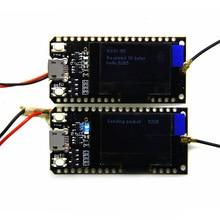2pcs TTGO 868MHz/915MHz SX1276 ESP32 LoRa 0.96 Inch Blue OLED Display Bluetooth WIFI  Kit esp32 Module IOT Development Board 2pcs 433mhz 868mhz 915mhz sx1276 sx1278 esp32 lora oled bluetooth wifi lora kit 32 development board for arduino