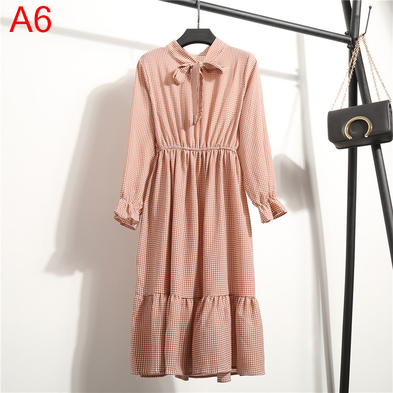 Korean Black Shirt Vestidos Office Polka Dot Vintage Autumn Dresses Women Winter Dress 19 Midi Floral Long Sleeve Dress Female 25