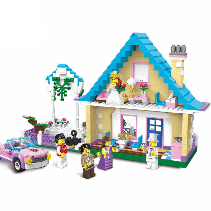 ФОТО 613pcs Friends Series Heartlake Pizzeria Building Blocks Classic For Girl Kids Model Toys Marvel Compatible Legoe