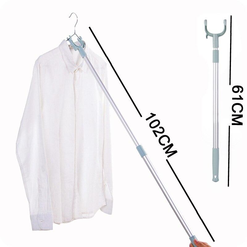Vanzlife varanda pólo garfo os cabides para roupas pole retrátil secagem pólo vestido garfo vara economia de espaço de rack de roupas
