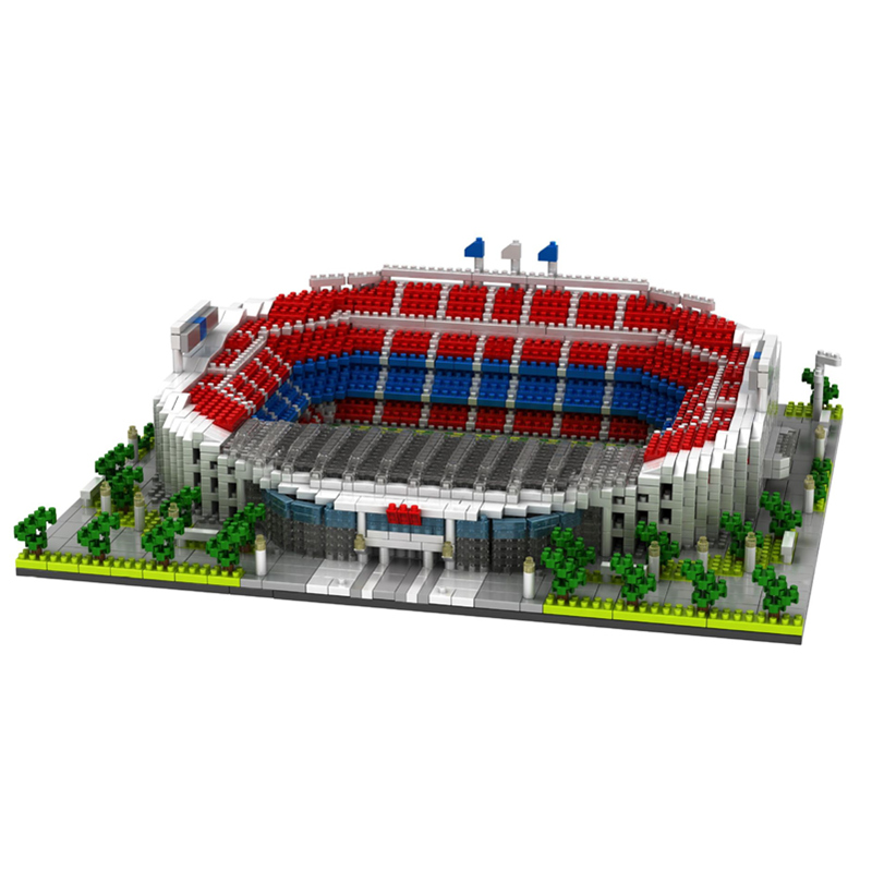 World Great Football stadium Field model building kits blocks Brick NO compatible architecture Club Cup Children