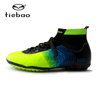 TIEBAO Brand Professional Men S Soccer Football Shoes Sneakers Outdoor TF Turf Non Slip Ankle High