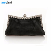 Aresland Women Evening Bag Day Clutches Diamond Bag Ladies Party Handbag Chain Shoulder Bag Banquet Wedding