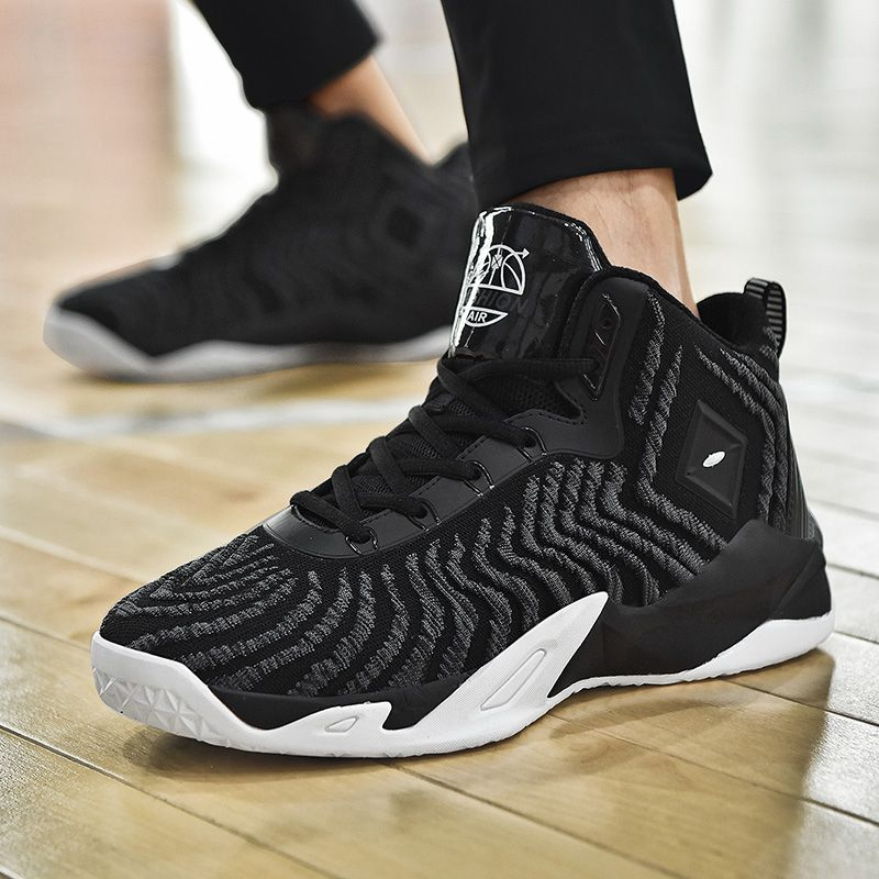 ZHENZU Mesh Breathable Men Basketball Shoes Cushioning Light Sneakers Anti-skid  Outdoor Sports basket homme