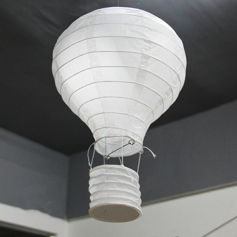 New (4 Size) White Hot Air Balloon Paper Lantern Chinese Wishing Lantern Wedding Decorations Kid's Birthday Party Home Supplies