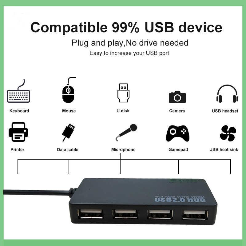 Usb hub 2.0 adaptateur séparateur ordinateur accessoires multi port adaptador pc 3.1 puissance para hab micro multiple pour chargeur de téléphone