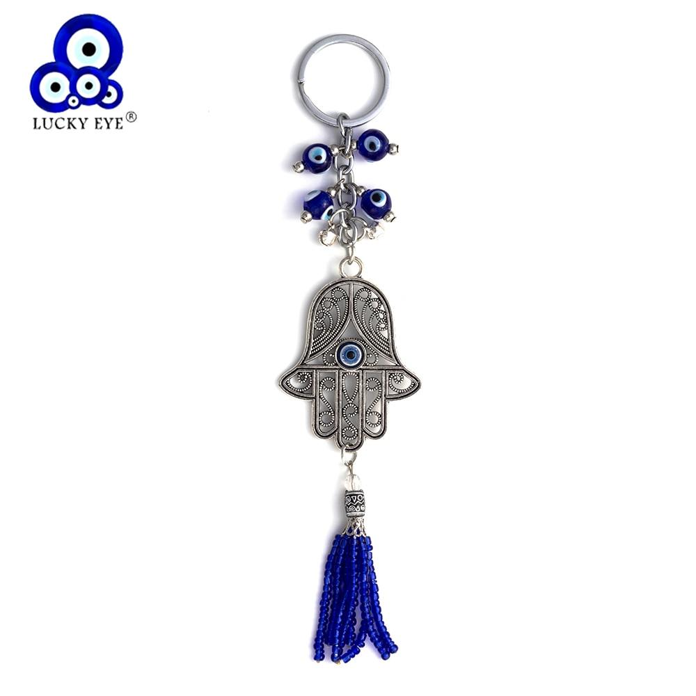 Lucky Eye Hamsa Sleutelhanger Tassel Muur Opknoping Boze Oog Amulet - Mode-sieraden - Foto 1