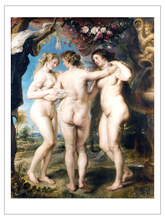Stretched canvas painting nude  12X16 inches ready for hang Peter Paul Rubens three graces paul peter rosen syed a hoda