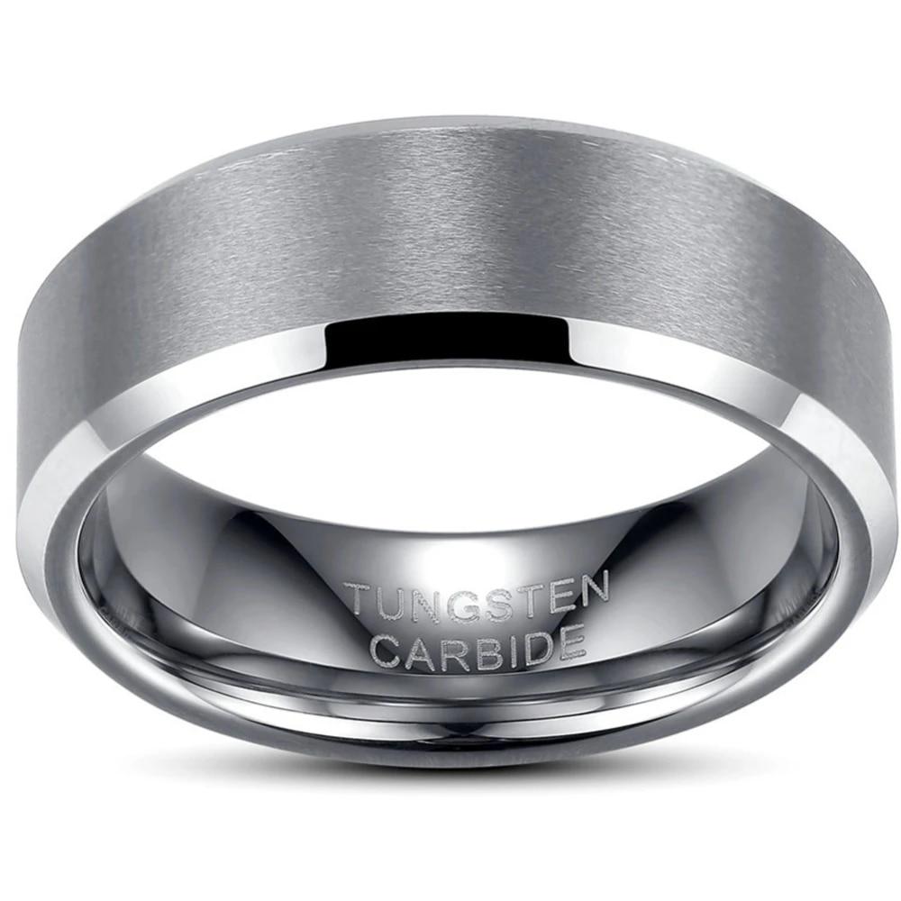 Men 8MM TUNGSTEN Carbide Ring Size 7-15 Wedding Engagement School Husband Father