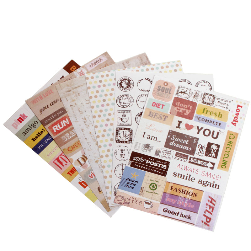 6 Sheets Kawaii Sticker Diary Stickers Planner Stickers Sticky Notes Papeleria Stationery Office Supply