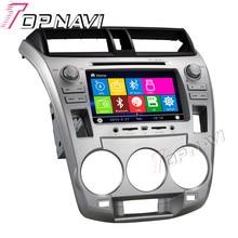 """WANUSUAL 7 """"GPS DVD Del Coche Para La Ciudad de Honda 1.5L 2008-Car Multimedia Radio Audio Estéreo En El Tablero, Sistema de la mueca de dolor"""