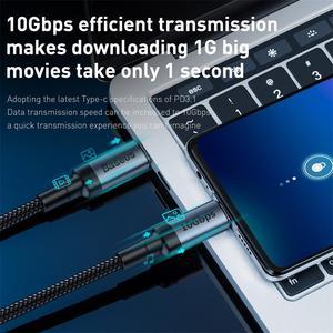 """Image 4 - Baseus USB 3.1 סוג C כדי USB C כבל עבור Huawei סמסונג S9 S10 פ""""ד 100W טעינה מהירה 4.0 USB C כבל עבור MacBook Pro סוג C כבל"""