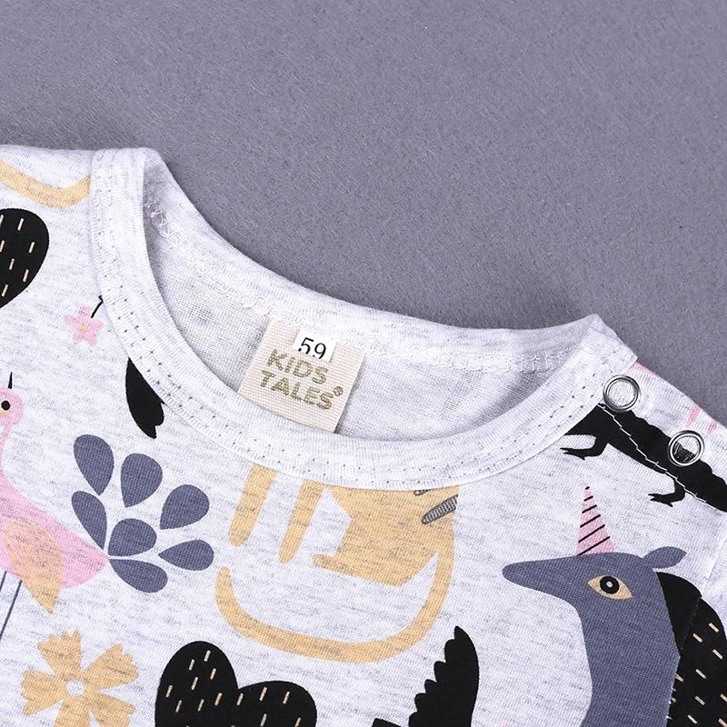 2019 Cartoon Baby Onesies Summer Cotton Romper Boy Girls 0-24 Months Kids Clothes Knitted Cartoon Short-sleeved Jumpsuit Outfits