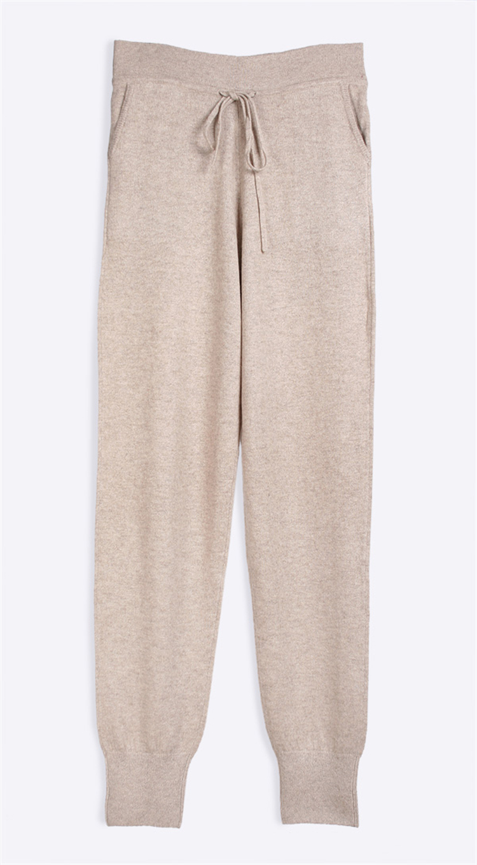 100% козья кашемировые женские Lounge Штаны пят Брюки с эластичной талией шнурок ЕС/m42-l44