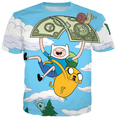 HipHop Men Fashion 3D T-shirts Adventure Time Printed Casual Street T Shirts For Man Free Shipping Male Tshirts