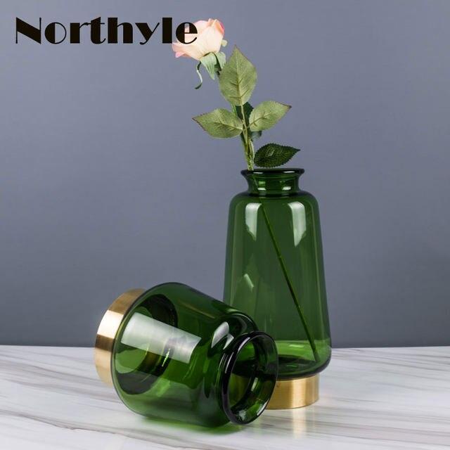 Online Shop Genuine Northyle Vs127263 Modern Green Glass Flower Vase
