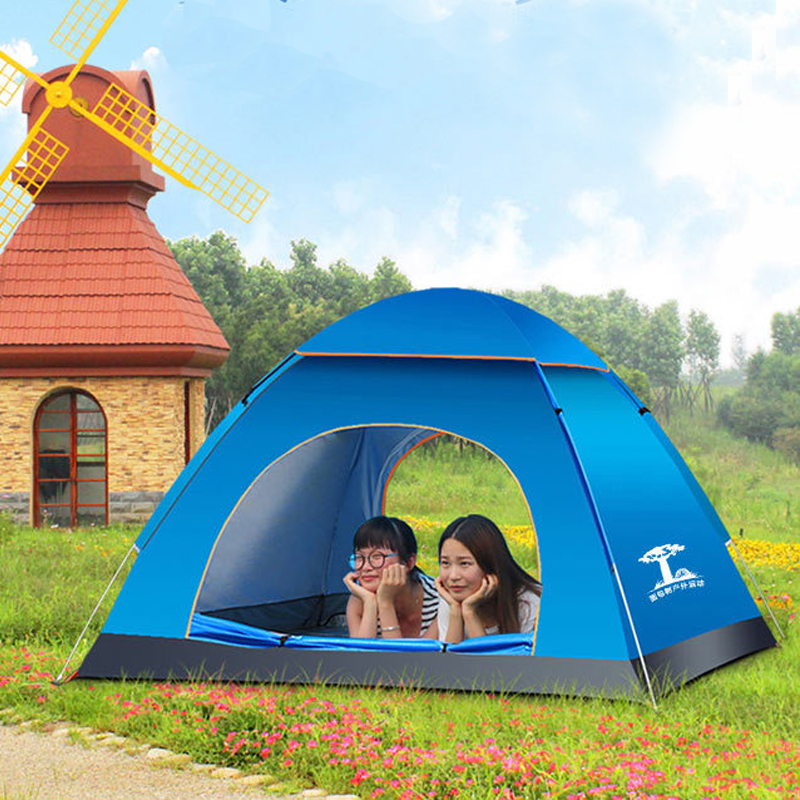 Outdoor Tents 5 Colors 3/4 Person Oxford cloth Rainproof Ourdoor Camping Tent for Hiking Fishing Hunting Adventure Picnic Party hot sale electric deep fryer commercial electric fryer french fries fried chicken deep frying furnace