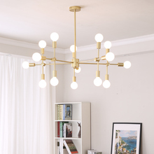 Vintage chandelier LED indoor lamp iron gold metal bar coffee shop modern dining ceiling decoretion lighting fixture AC110-265V стоимость
