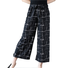 купить Wide Leg Plus Size Palazzo Pants Loose Casual Dots Stripe Summer Elastic Waist Plaid Pants Pantalon Palazzo Mujer Trousers Women в интернет-магазине