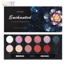 Docolor 12 Cor Dos Olhos Sombra Palette-Y1201 Long-lasting fácil de Usar Maquiagem Paleta paleta Da Sombra de Olho Fosco de sombra
