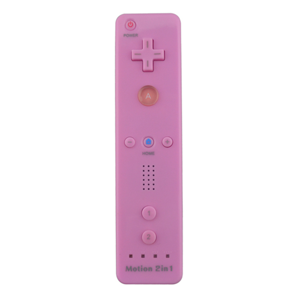 10PCS 2 in 1 Built in Motion Plus Remote Controller Pink Wireless Gamepad for Nintendo Wii Console Game Joystick onetomax 2 in 1 wireless gamepad remote controller built in motion plus with nunchuck for nintendo wii controller joystick