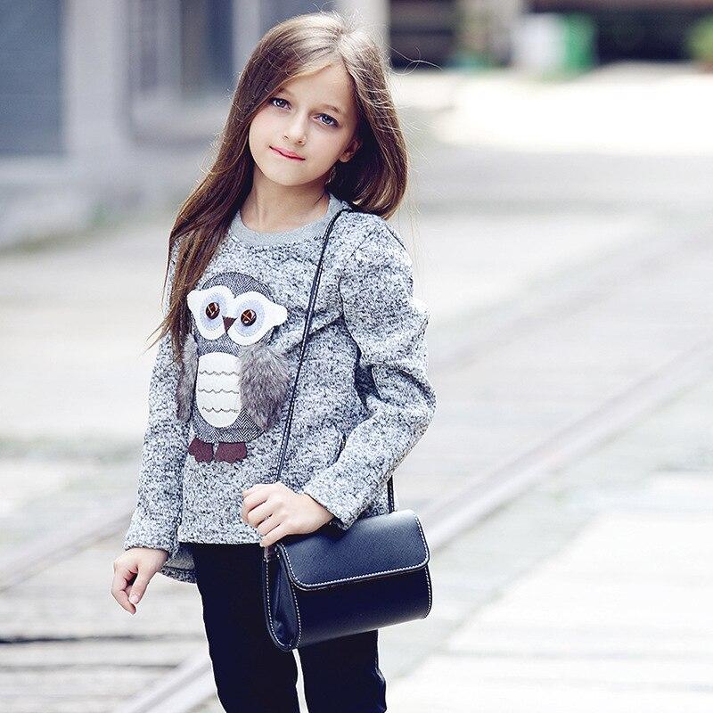 43cacdb3b73b2 US $12.67 35% OFF|autumn new fashion girls sweaters kids fleece lined  zipper sweaters cartoon cute owl casual cotton girls sweater 6 8 10 12  years-in ...