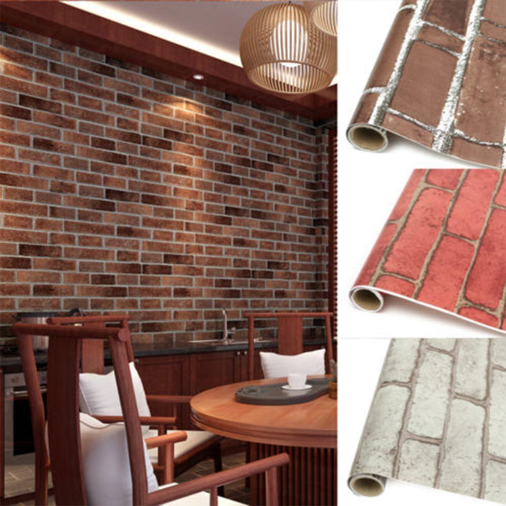 1 M/5 M/10 M 3d Vintage Geprägte Stein Europa Nachahmung Ziegel Wand Aufkleber Wasserdichte Pvc Klebstoff Esszimmer Wand Papier Wandbild